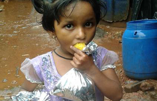 This Little Girl Along with Thousands of Children and Adults Were Fed at HoPE Centers in Villages Across India