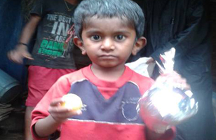 This Little Boy Along with Thousands of Children and Adults Were Fed at HoPE Centers in Villages Across India